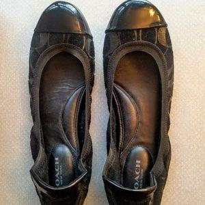 NWOT- Coach Black Ballerina shoes- Size 10